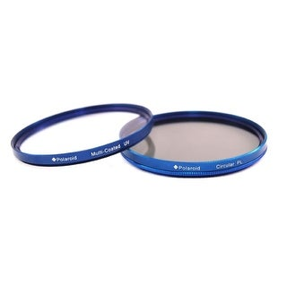 Polaroid Optics 72mm Multi-Coated Dual Filter Kit BLUE (MC UV, CPL)
