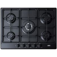 Summit GC527 27 Inch Wide Built-In Gas Cooktop with Sealed Sabaf Burners and Dua