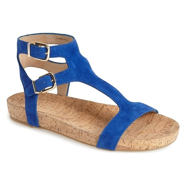 d3e02d05fd2 Shop Via Spiga NEW Blue Lamuela Shoes 6.5M Ankle Strap Suede Sandals ...