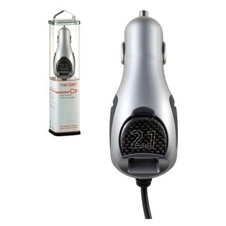 Ventev 2.1A Dual USB Car Charger for Apple iPad 3/2/1, iPhone 3G/3GS, 4/4s, iPod
