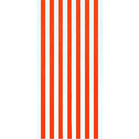 Cabana Stripes Orange 30x60 Brazilian Velour Beach Towel