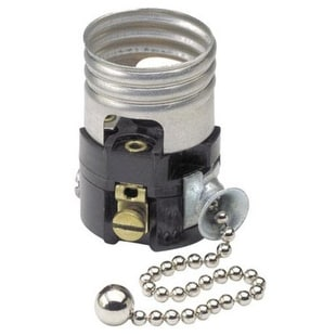 Leviton 003-19980-M Pull Chain Socket  Interior, 660-Watt