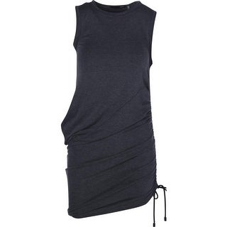 Elie Tahari Womens Madia Sleeveless Drawstring Tank Dress