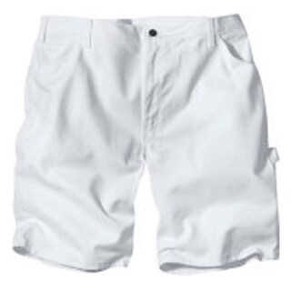 """Dickies DX400WH 32 Men's Painter's Shorts, 32"""", White"""
