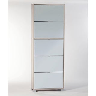 """Nameeks A765SP Shoe Rack Collection 27-3/5"""" 30 Pair Shoe Rack with Double-Depth Doors"""
