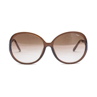 Chloe Women's  Circular Sunglasses Brown - Small