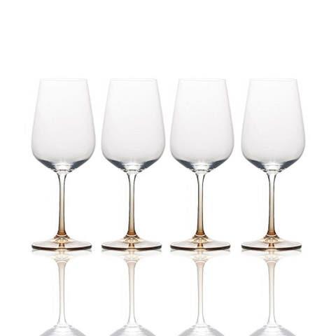 Mikasa Gianna Ombre Amber 15.25 oz. White Wine Glass (Set of 4)