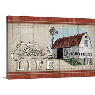 """The Farm Life"" Canvas Wall Art"