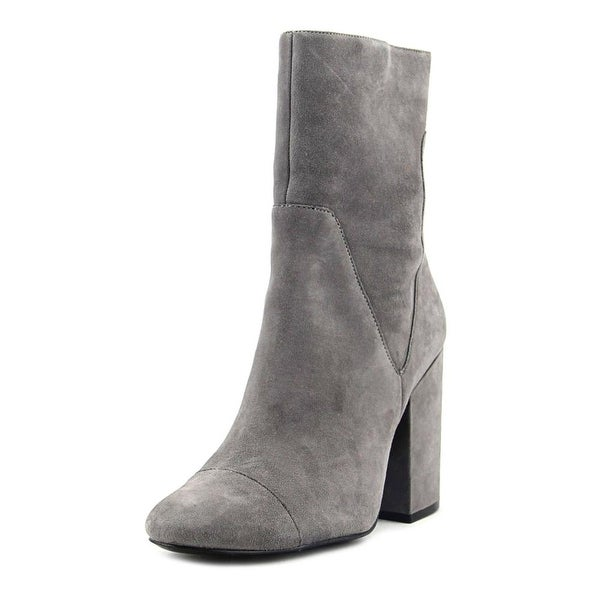 Kendall + Kylie Brooke Women Round Toe Suede Gray Mid Calf Boot