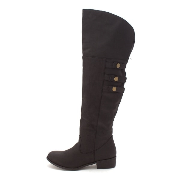 Just Fab Womens Sage Closed Toe Knee High Fashion Boots - 7