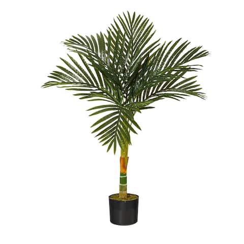 "3' Golden Cane Artificial Palm Tree - 6"""