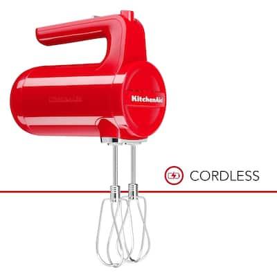 KitchenAid Cordless 7 Speed Hand Mixer KHMB732PA Passion Red