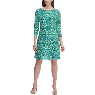 Link to Tommy Hilfiger Womens Wild Hibiscus Wear to Work Dress Printed Office - Green Similar Items in Dresses