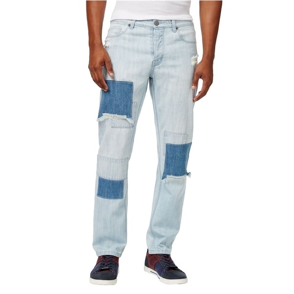 Jaywalker Mens Patchwork Relaxed Jeans. Opens flyout.