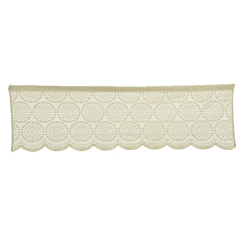 Polyester Short Drapery Curtain Window Valance Green 60 Inch x 17.7 Inch