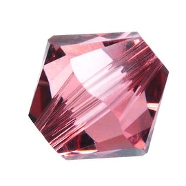 Swarovski Crystal, 5328 Bicone Beads 4mm, 24 Pieces, Blush Rose