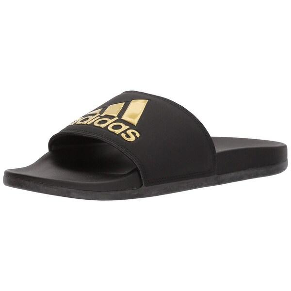 best service 50020 a50bc Adidas Women Adilette Comfort Sport Sandal, Core Black, Gold Met, Core  Black,