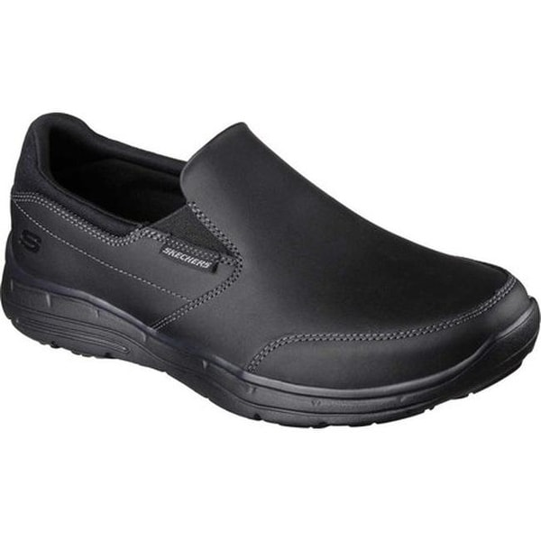 abfc1f3bb30 Shop Skechers Men s Relaxed Fit Glides Calculous Slip On Black - On ...