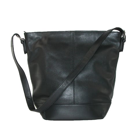 CTM® Women's Leather Bucket Shoulder Handbag - one size