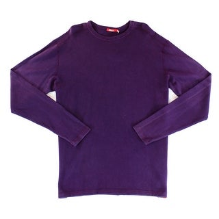 AGAVE NEW Purple Mens Size XL Solid Pullover Knit Crewneck Sweater