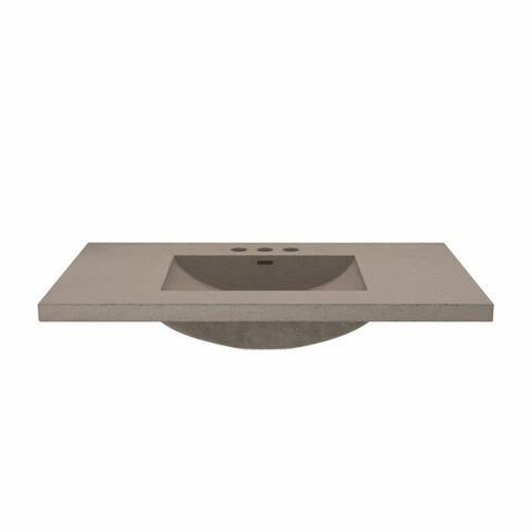 Saint Birch Grey Cement Vanity Top