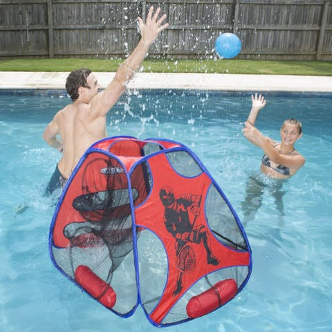 "35"" Blue and Red Hydro 5 in 1 Swimming Pool Game Set"