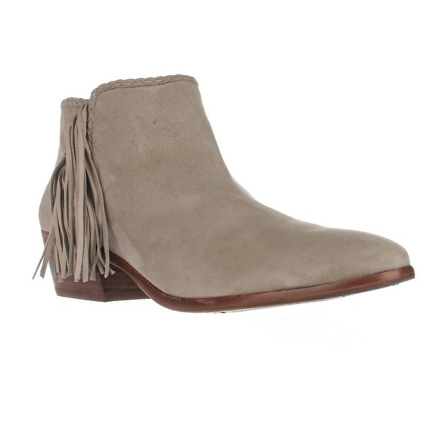 6bb7ac16e15e55 Shop Sam Edelman Paige Fringe Ankle Booties - Putty - Free Shipping ...