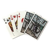 Dungeness Crab - Scratchboard - LP Artwork (Poker Playing Cards Deck)
