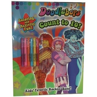 """DDI 1392701 """"Doodlebops"""" - count to 10 - coloring book. Case of 36"""
