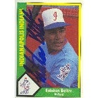 Esteban Beltre Indianapolis Indianas Expos Affiliate 1989 American Association Autographed Card Minor League Card