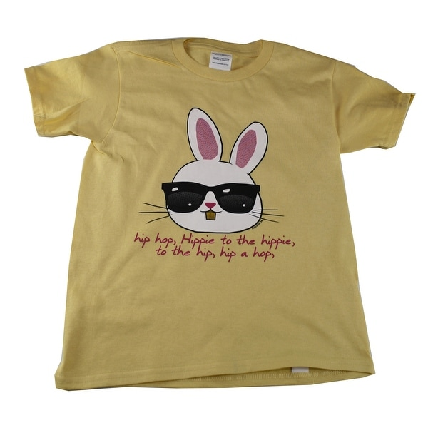 f2aee2355 Shop Kids Unisex Yellow Hip Hop Bunny Print Short Sleeve T-Shirt - Free  Shipping On Orders Over $45 - Overstock - 28295460