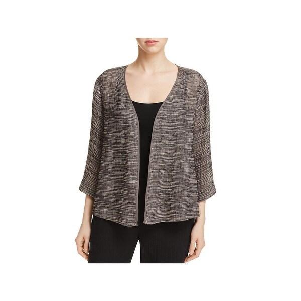 a4a697ecc19 Shop Eileen Fisher Womens Kimono Linen Open Front - L - Free ...