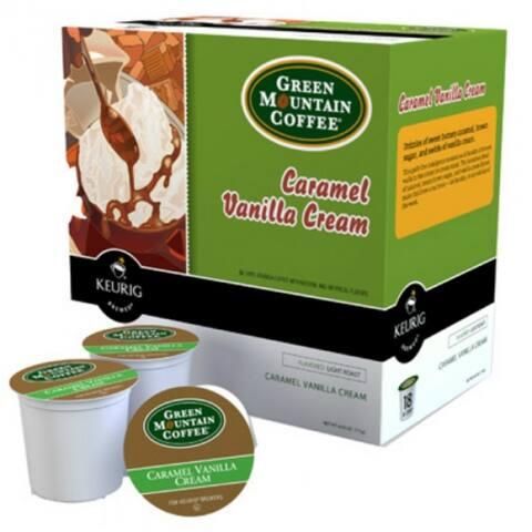 Keurig 00750 Green Mountain Coffee Caramel Vanilla Cream Coffee K-Cup, 18-Ct