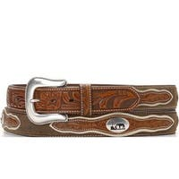Nocona Western Belt Mens Cowboy Prayer Concho Dark Chocolate