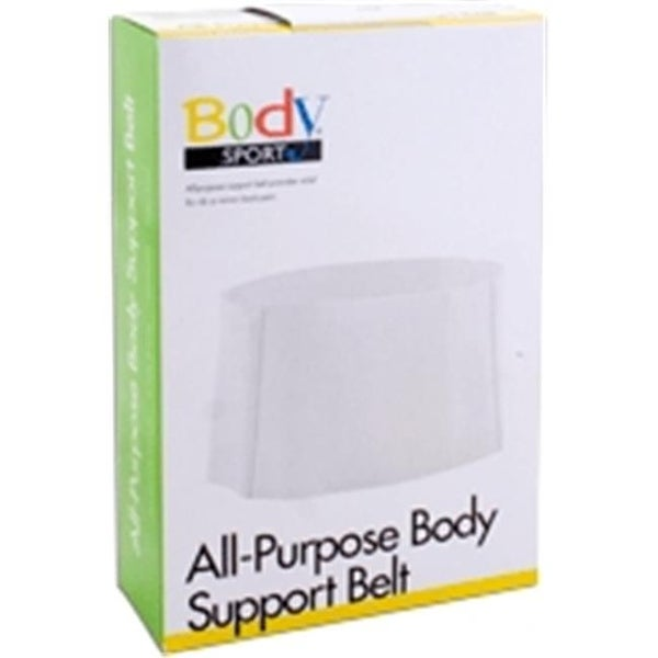 Body Sport BDS113LRG All Purpose Value Support Belt, White - Large