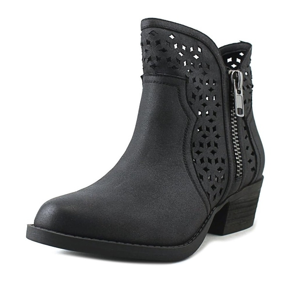 Not Rated Etta Women Round Toe Canvas Black Ankle Boot