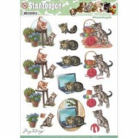 Find It Trading Amy Design Animal Medley Punchout Sheet, Cats