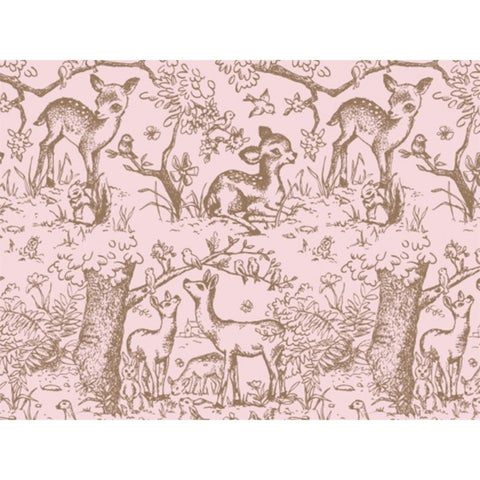 """Pink Lullaby Meadow Tissue Paper 120~20""""x30"""" Half Ream Recycled"""