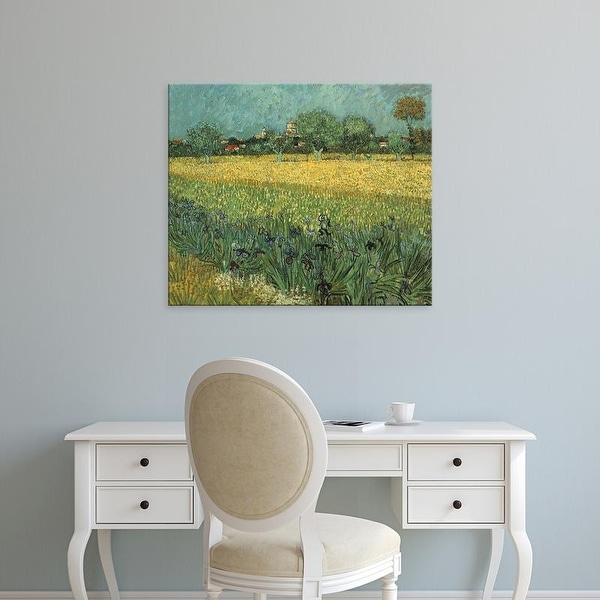 Easy Art Prints Vincent Van Gogh's 'View of Arles with Irises' Premium Canvas Art