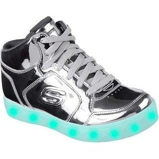 Skechers Children's S Lights Energy Lights Eliptic High Top Sneaker Silver