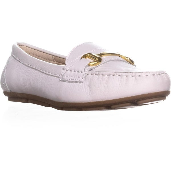 White Mountain Scotch Moccasin Loafers, White - 9.5 us