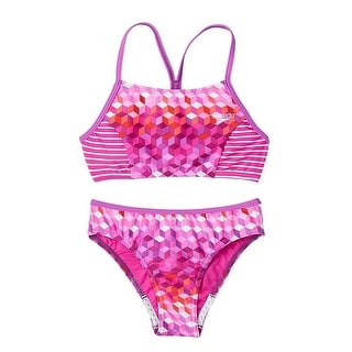 Speedo Girls' Bikini Swimsuit Set Electric Purple Size 14 - electric purple