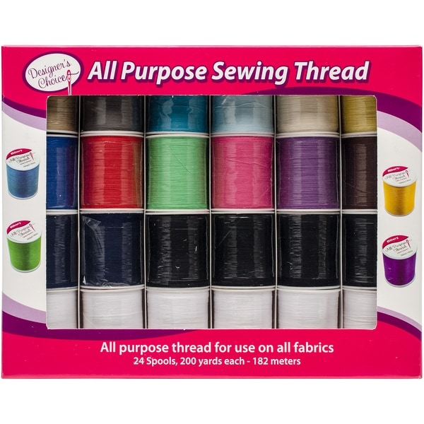 Designer's Choice All Purpose Sewing Thread-24/Pkg