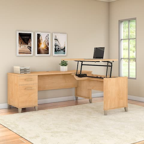 Copper Grove Shumen 3-position Sit to Stand L-shaped Desk