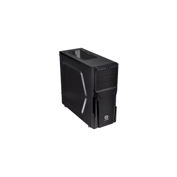 "Thermaltake CA-1B2-00M1NN-00 Thermaltake Versa H21 Mid-tower Chassis - Mid-tower - Black - Steel - 6 x Bay - 1 x 4.72"" x"