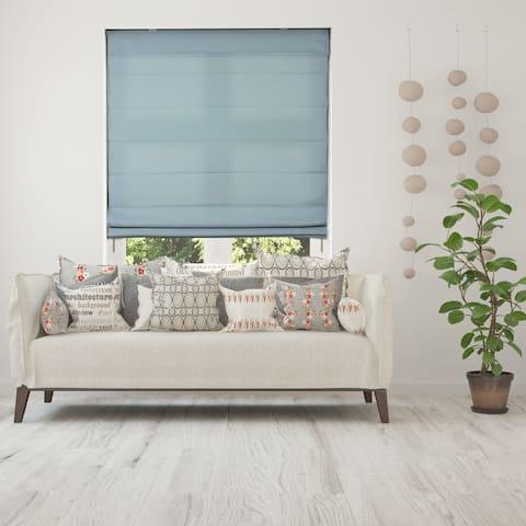 Arlo Blinds Seascape Light Filtering Cordless Fabric Roman Shades