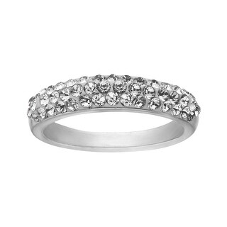 Crystaluxe Ring with Swarovski Crystals in Sterling Silver - White