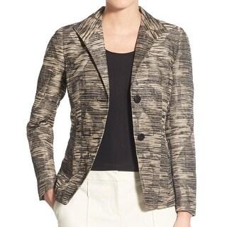 Lafayette 148 NEW Beige Women's Size 8 Carmen Floral Jacquard Jacket