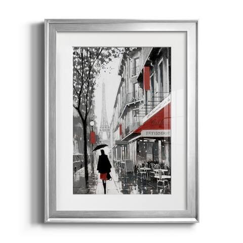 Rainy Paris I Premium Framed Print - Ready to Hang