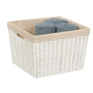 Honey-Can-Do STO-03566 with liner paper rope basket, G44 - brown